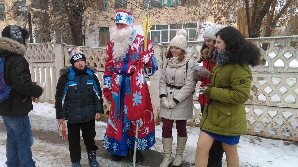 Новогодняя сказка на улицах Ахтубинска
