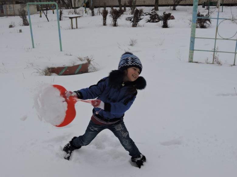 Снег, санки, лыжи, я и со мной мои друзья!