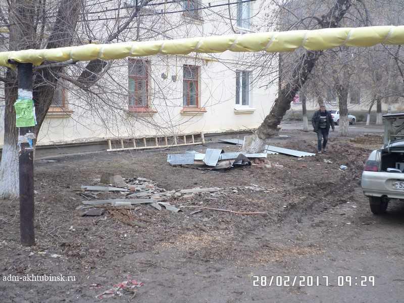 Капительный ремонт крыши в доме № 13 по ул. Сталинградская