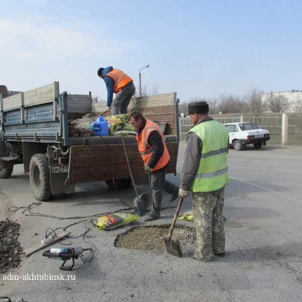 Начался ремонт дорог новым материалом