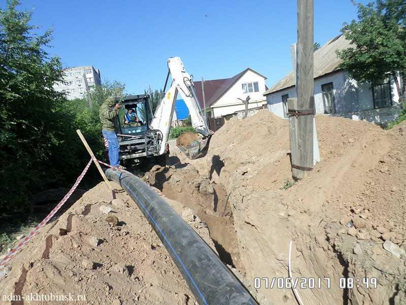Плановые работы по замене участка магистрального водопровода.