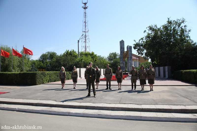 Ахтубинцы на митинге «Подвиг ваш бессмертен, слава ваша вечна!» почтили память павших в годы Великой Отечественной войны
