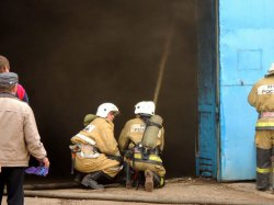 В Астраханской области сгорел агрокомплекс