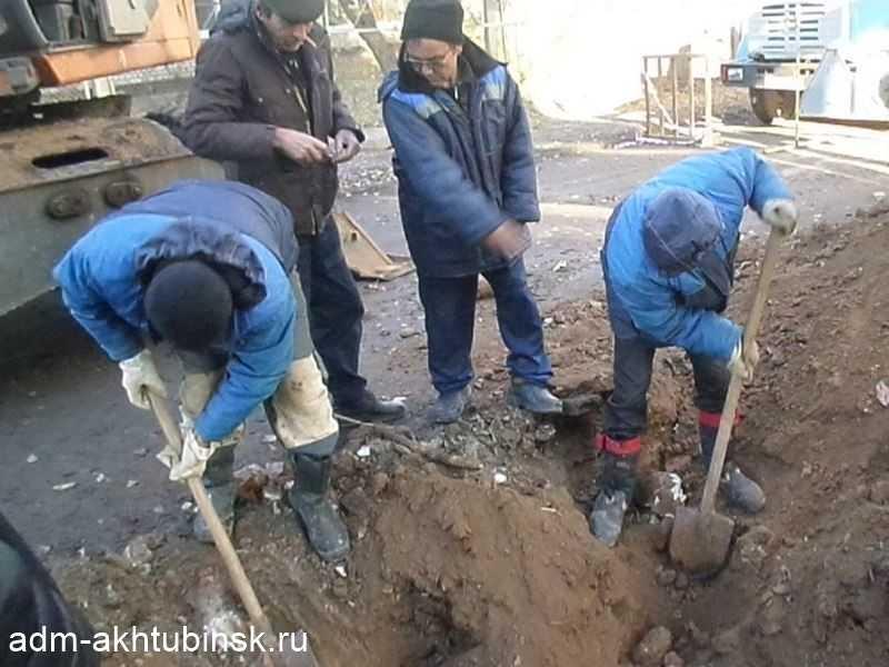 Устранение аварии у дома Щербакова 20