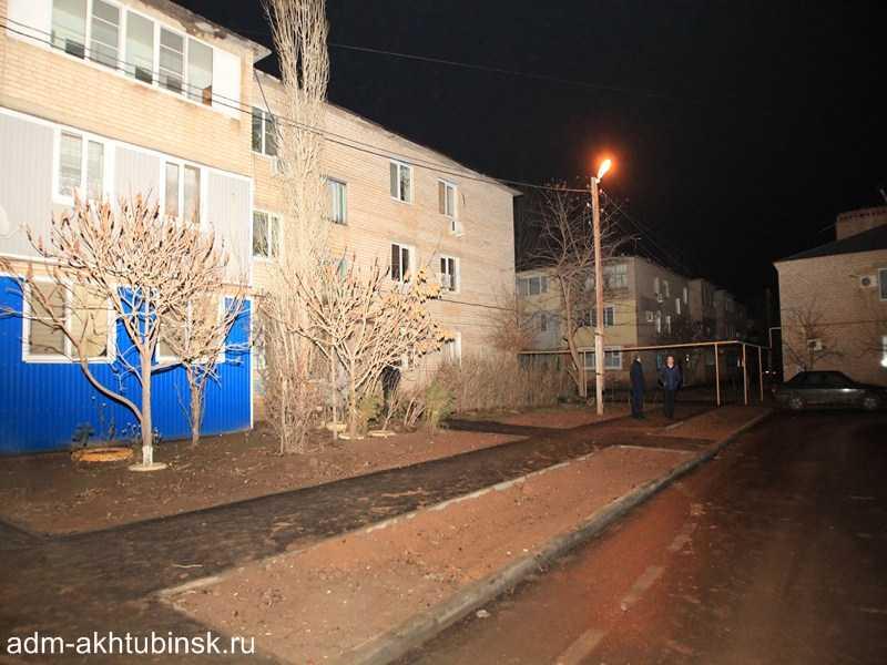 На придомовой территории в Северном городке установлено 7 уличных светильников