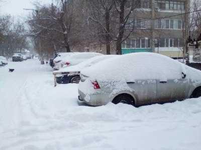 Север Астраханской области завалило снегом