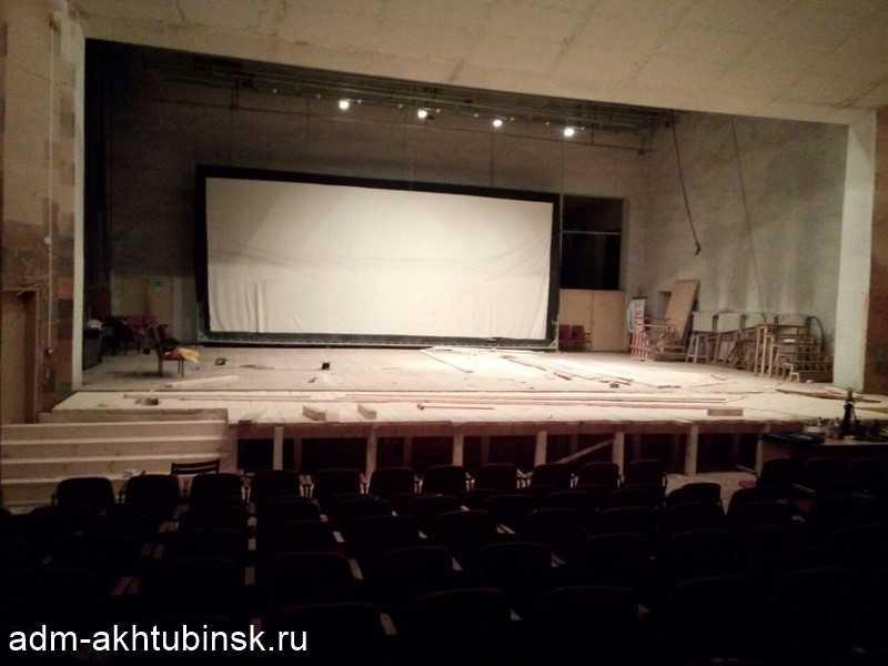 Ремонт зрительного зала городского Дома культуры речников