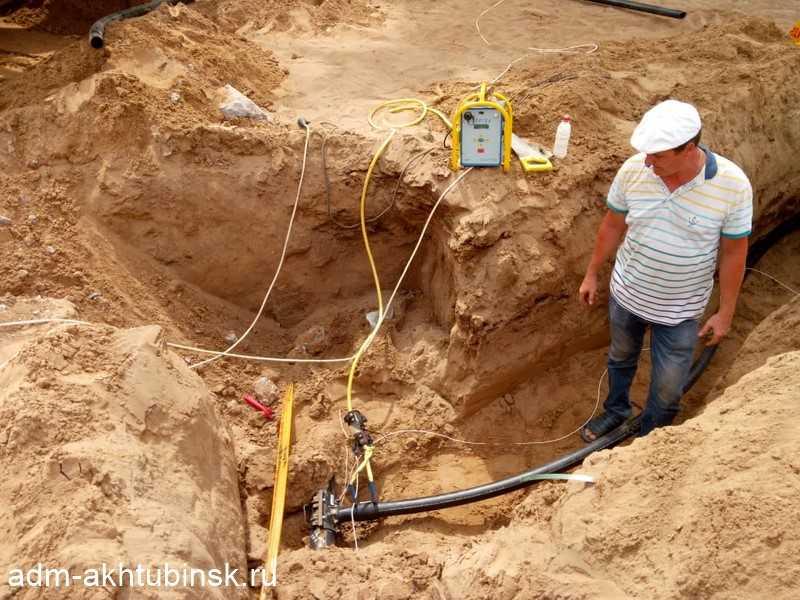Строительство сетей газораспределения в заречной части города