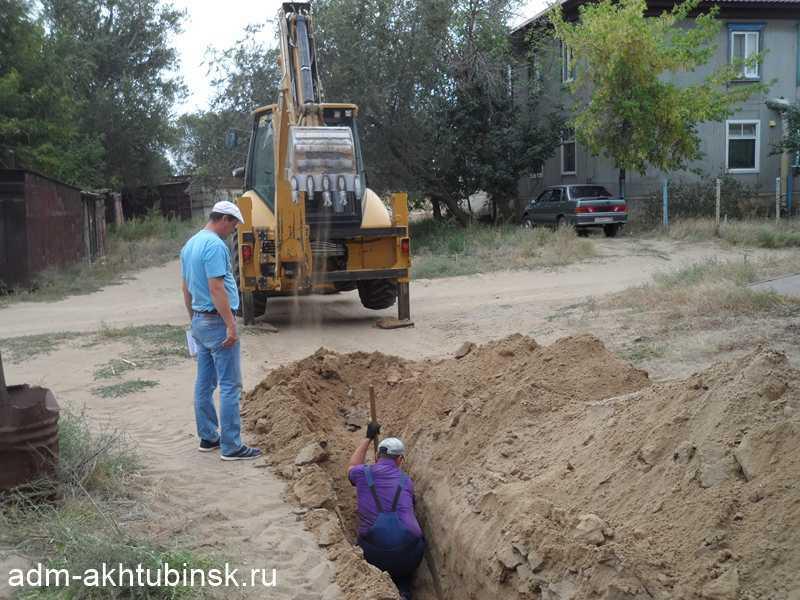 Строительство газопровода в заречной части города