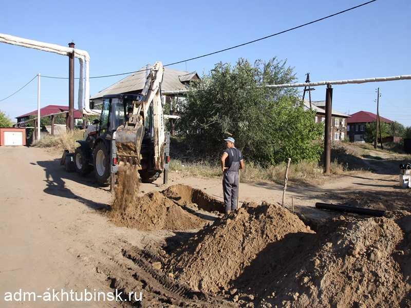 Продолжаются работы по прокладке газопровода в Петропавловке