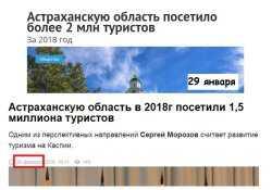 В Астрахани количество туристов тает на глазах