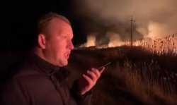 Астраханский врио губернатора Сергей Морозов приехал на степной пожар раньше спасателей (ВИДЕО)