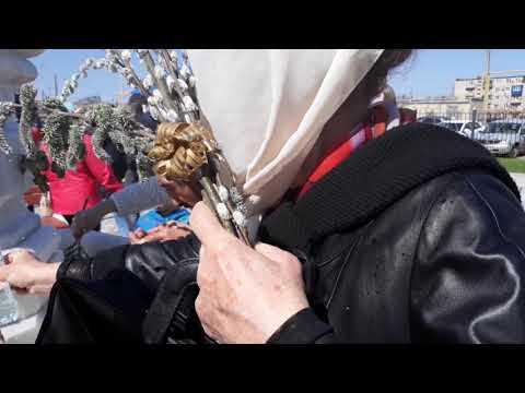 Вербное воскресенье  В ахтубинском храме