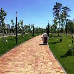 Неизвестный крушил новый парк у подножия Мамаева кургана в Волгограде
