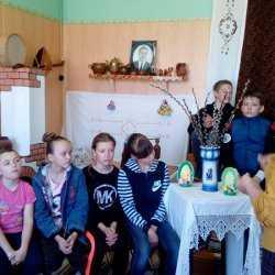 В Доме культуры с. Покровка прошла познавательная беседа на тему «Вербное воскресенье»