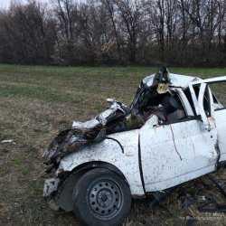Грузовик смял Lada Priora в гармошку на трассе под Волгоградом: водитель и пассажир погибли на месте