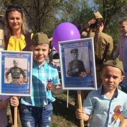 Праздничные мероприятия, посвященные 74-ой годовщине Великой Победы прошли в с. Золотуха