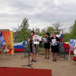 В с. Пологое Займище прошли праздничные мероприятия, посвященные 74-ой годовщине Победы в Великой Отечественной войне