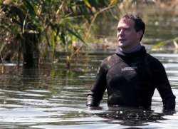 В Астраханскую область на рыбалку приехал Дмитрий Медведев