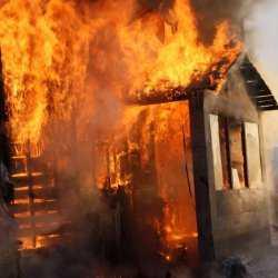 Дом сгорел вместе с хозяином