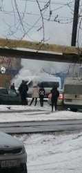 В Астрахани горел микроавтобус