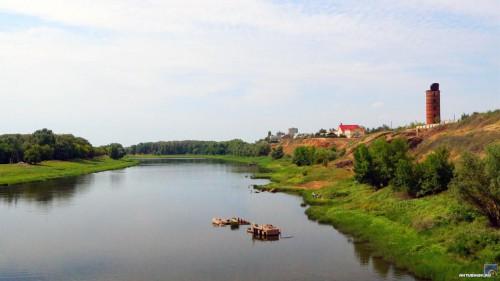 Вид с железнодорожного моста на Мурню